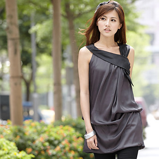 Buy 59th Street Draped Drop-Waist Dress Dark Gray – One Size 1022779350