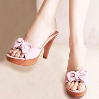 "Buy Kvoll Genuine Leather ""Bow"" Sandals 1022747143"