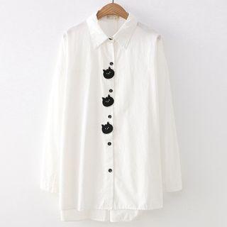 Long-sleeve | Embroider | Shirt | Cat