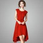 Cap-Sleeve Sheath Dress 1596
