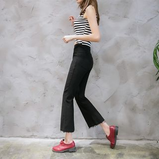 Cropped Boot-Cut Pants 1063322444