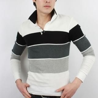 Buy SEOBEAN Long-Sleeve Polo Shirt 1022417552