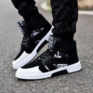 Image of Printed High-Top Sneakers