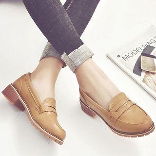 Chunky Heel Loafers 1062099634