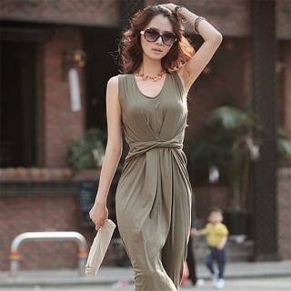 Buy AKA Tied Waist Detail Sleeveless Jersey Dress 1022811260