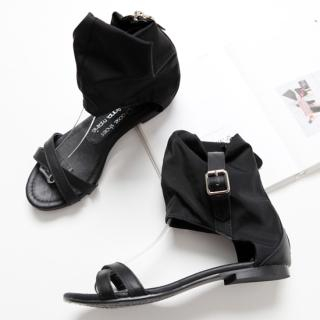 Picture of ALICE9 Crossed Strap Sandals 1022977931 (Sandals, ALICE9 Shoes, Korea Shoes, Womens Shoes, Womens Sandals)