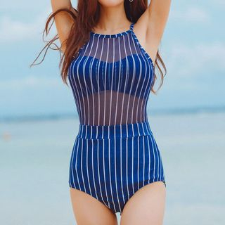 Striped Swimsuit 1057931068