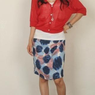 Buy Dorothy Pink Patterned Skirt 1023004844
