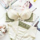 Set: Lace Trim Striped Bra + Panty 1596