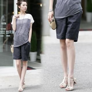 Buy Soegirl Linen Bermuda Pants 1023047773