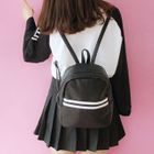 Striped Faux Leather Backpack 1596