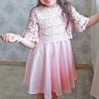 Kids Lace Panel Dress 1596