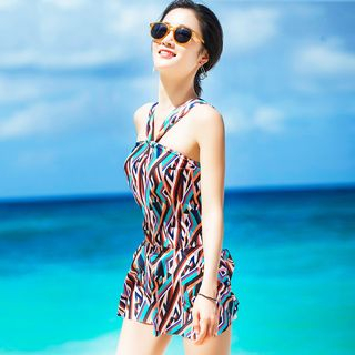 Patterned Swim Dress 1060564852