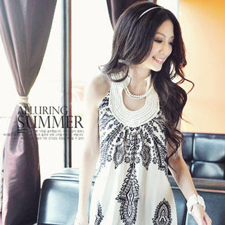 Buy Melissa Printed Sleeveless Dress 1023047326