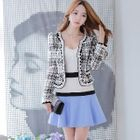 Color-Block A-Line Skirt 1596