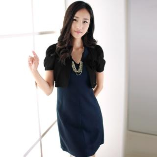 Buy MOSS V-Neck Dress with Faux-Pearl Necklace 1023063366