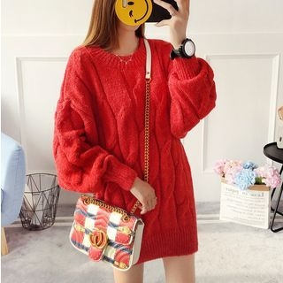 Rib Knit Long Sweater 1064681566