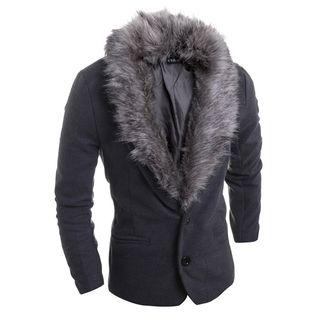 Removable Faux Fur Blazer 1050443623