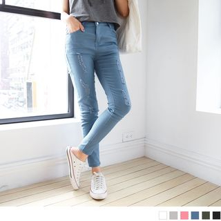 Stylish Distressed Skinny Jeans 1060994770