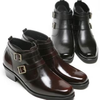 Picture of Portfranc Genuine Leather Belted Boots 1022391267 (Boots, Portfranc Shoes, Korea Shoes, Mens Shoes, Mens Boots)