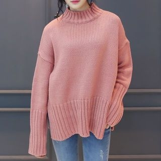 High-Neck Ribbed Sweater 1057286401