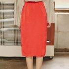 Dip-Back Pencil Skirt 1596