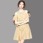 Cutout Ruffled A-Line Dress 1596