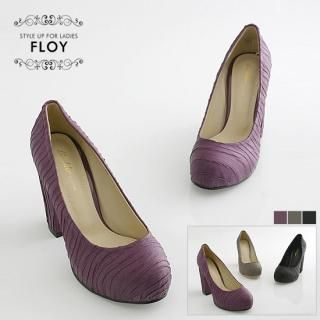 Picture of FLOY SHOES Round-Toe Wrinkled Pumps 1023058998 (Pump Shoes, FLOY SHOES Shoes, Korea Shoes, Womens Shoes, Womens Pump Shoes)