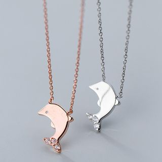 Necklace   Sterling   Dolphin   Silver