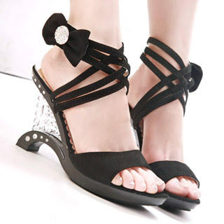 Buy Kvoll Bow-Accent Strappy Wedge Sandals 1022892202