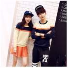 Women Pullover + A-Line Skirt Set / Matching Couple Color-Block Pullover от YesStyle.com INT