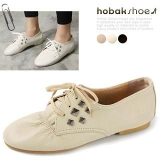Buy HOBAK girls Studded Genuine Leather Flats 1023059681