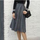 Striped A-Line Knit Skirt 1596