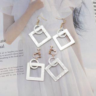 Image of Acetate Square Dangle Earring