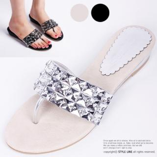 Picture of STYLE LINE Studded Thong Mules 1022996990 (Other Shoes, STYLE LINE Shoes, Korea Shoes, Womens Shoes, Other Womens Shoes)