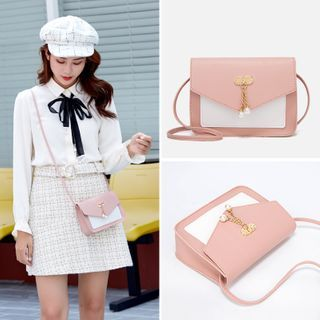 Image of Embellished Flap Mini Crossbody Bag