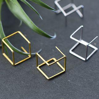 Image of 3D Cube Earrings