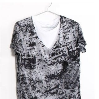 Picture of SERUSH Asymmetric Hem White Tee + Tie-Dye Cropped Top 1022953205 (SERUSH, Mens Suits, Taiwan)