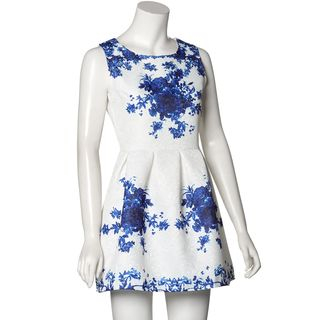 Floral Jacquard Tea Dress 1039220755