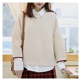 Drop-Shoulder Knit Top 1054849596