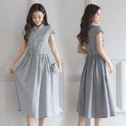 Cap-Sleeve Drawstring Dress 1596