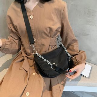 Image of Nylon Crossbody Bag with Pouch