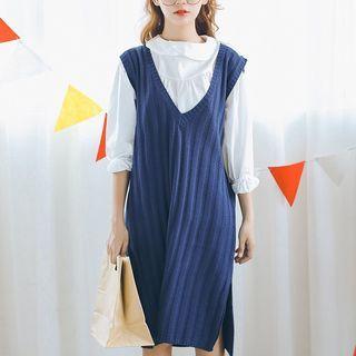 Ribbed Knit Tank Dress 1053729773