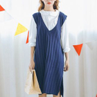 Ribbed Knit Tank Dress 1596