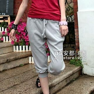 Picture of Ando Store Cropped Sweatpants 1022710450 (Womens Cropped Pants, Womens Sweatpants, Ando Store Pants, China Pants)