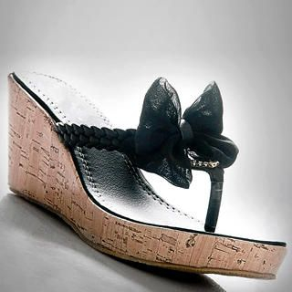 Picture of Kvoll Bow Cork Wedge Mules 1022503192 (Other Shoes, Kvoll Shoes, China Shoes, Womens Shoes, Other Womens Shoes)