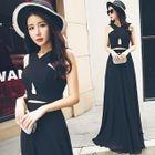 Cutout Sleeveless Maxi Dress 1596