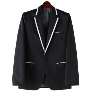 Buy TOKIO Contrast-Trim Single-Button Blazer 1022273712