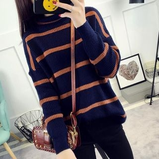 Striped Ribbed Sweater 1055039947