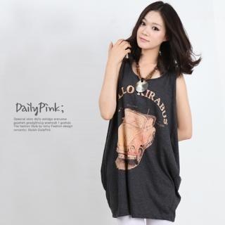 Buy Daily Pink Print Long Sleeveless Top 1023010653